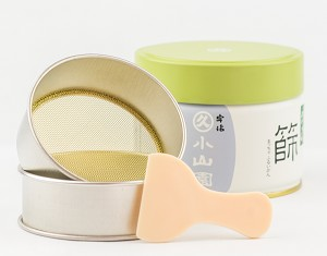 Matcha strainer; storage can sold separately